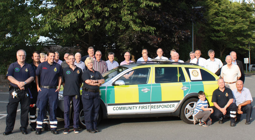 Audley Rotary give support to Community First Responders